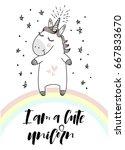 """i am a cute unicorn""... | Shutterstock .eps vector #667833670"