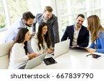 startup business team on... | Shutterstock . vector #667839790