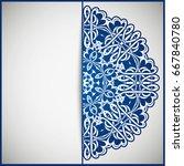 openwork vintage greeting frame ...   Shutterstock .eps vector #667840780