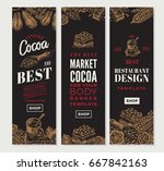 cocoa vertical banners for shop ... | Shutterstock .eps vector #667842163