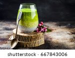 detox ombre layered matcha...   Shutterstock . vector #667843006