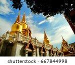 trithotsathep buddhist temple | Shutterstock . vector #667844998