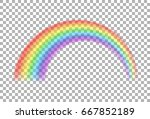 rainbow icon. transparent... | Shutterstock .eps vector #667852189