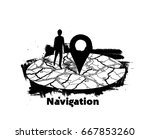 gps.navigator pin mock up with... | Shutterstock .eps vector #667853260