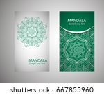 vintage cards with floral...   Shutterstock .eps vector #667855960