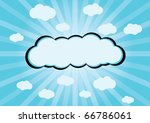 cartoon clouds | Shutterstock .eps vector #66786061