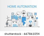 home automation concept as...   Shutterstock .eps vector #667861054