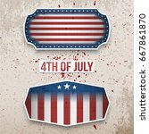 usa 4th of july realistic...   Shutterstock .eps vector #667861870