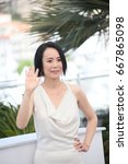 Small photo of Director Naomi Kawase attends the 'Hikari (Radiance)' photocall during the 70th annual Cannes Film Festival at Palais des Festivals on May 23, 2017 in Cannes, France.