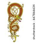 celtic  scandinavian vintage...   Shutterstock .eps vector #667866634