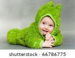 Sweet Cute Baby Dressed In A...