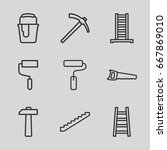 improvement icons set. set of 9 ... | Shutterstock .eps vector #667869010