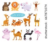 vector set animals. collection... | Shutterstock .eps vector #667871074