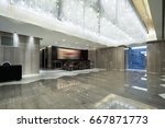 hotel lobby interior with... | Shutterstock . vector #667871773