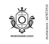 monogram logo template with...   Shutterstock .eps vector #667872910