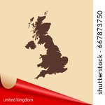 map of united kingdom | Shutterstock .eps vector #667873750
