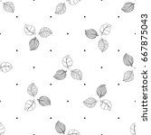 vector black and white seamless ... | Shutterstock .eps vector #667875043