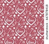 background for valentines day  ...   Shutterstock .eps vector #667878418