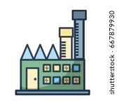 industrial factory to... | Shutterstock .eps vector #667879930