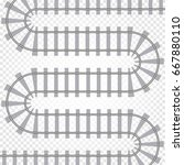rail railroad track vector... | Shutterstock .eps vector #667880110