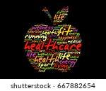 health care apple word cloud... | Shutterstock . vector #667882654