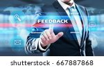 feedback business quality... | Shutterstock . vector #667887868