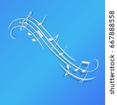 music notes vector illustration ... | Shutterstock .eps vector #667888558