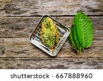 Small photo of Mitragyna speciosa Korth Fritter,Kratom Fritter,Ideas for cooking and the invention of the season.
