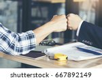 success business partners... | Shutterstock . vector #667892149