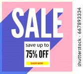 halftone sale poster on... | Shutterstock .eps vector #667893334