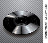vector blank black lp vinyl...   Shutterstock .eps vector #667894330