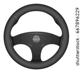 car steering wheel | Shutterstock .eps vector #667896229