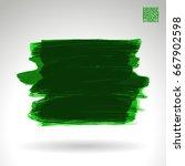 green brush stroke and texture. ... | Shutterstock .eps vector #667902598