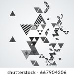 vector hipster triangle... | Shutterstock .eps vector #667904206