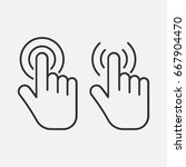 hand touch icon. click icon.... | Shutterstock .eps vector #667904470