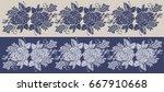 rose flower decorative border... | Shutterstock .eps vector #667910668