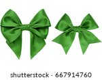 two beautiful gift green bow... | Shutterstock . vector #667914760