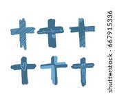 draw the cross symbol is a... | Shutterstock .eps vector #667915336