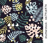 vector seamless pattern with... | Shutterstock .eps vector #667916974