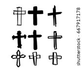 draw the cross symbol is a... | Shutterstock .eps vector #667917178