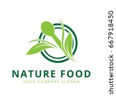 nature food logo  green food... | Shutterstock .eps vector #667918450