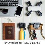 technology travel blogger hi... | Shutterstock . vector #667918768
