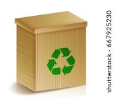 recycle box. realistic blank... | Shutterstock .eps vector #667925230