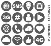 media icons | Shutterstock .eps vector #667928296