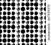 vector seamless pattern. black... | Shutterstock .eps vector #667929370
