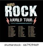 hard rock world tour   Shutterstock .eps vector #667929469