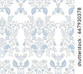 seamless vintage wallpaper....   Shutterstock .eps vector #667930378