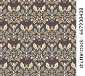 seamless vintage wallpaper....   Shutterstock .eps vector #667930438