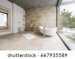 amazing spacious bathroom with...   Shutterstock . vector #667935589