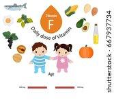 vitamin f or essential fatty...   Shutterstock .eps vector #667937734
